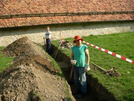 Kabelgraben für Stromkabel